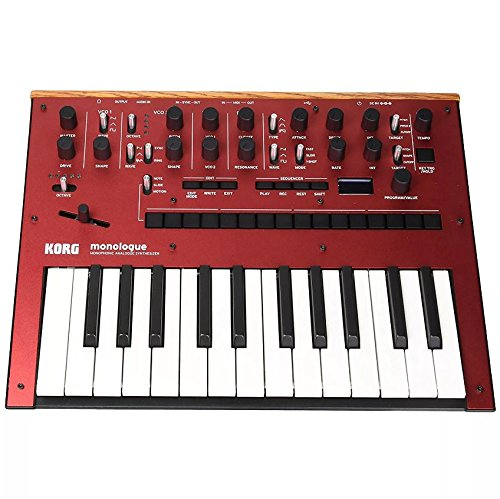 Korg Monologue Monophonic Analogue Synthesizer Red w/FREE Power Supply