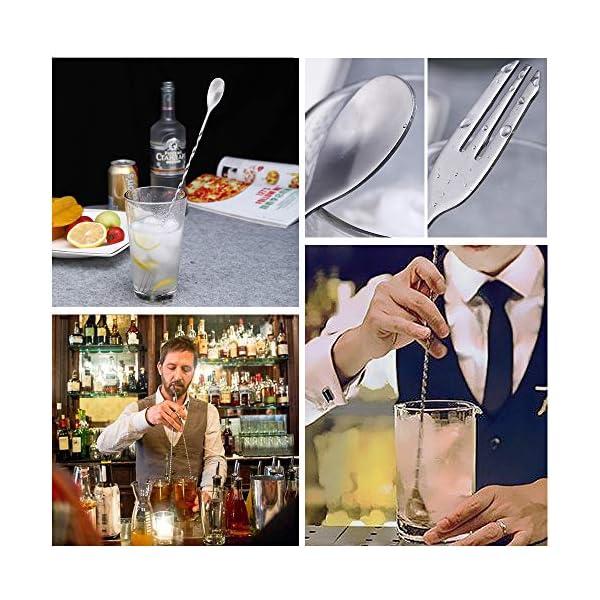 INHEMI Set di utensili da bar in acciaio inox: pestello da cocktail, cucchiaio per mescolare e Ice Tong 4 spesavip