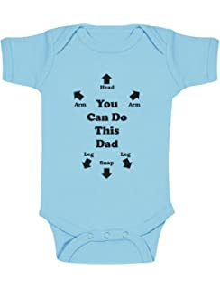 451a11814 The Lazy Cow Come on Daddy You Can Do This Dad - Baby Grow Vest ...