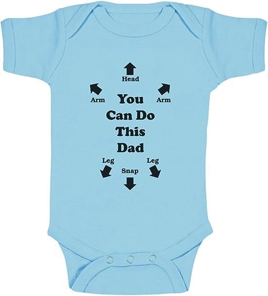 Body para bebé con mensaje en inglés: You can do this Dad azul ...