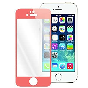 BLUBOON(TM) Colorful Premium Tempered-Glass Screen Protector for iPhone 5S 5C 5 High-Response Touch, Scratch Proof (Red)