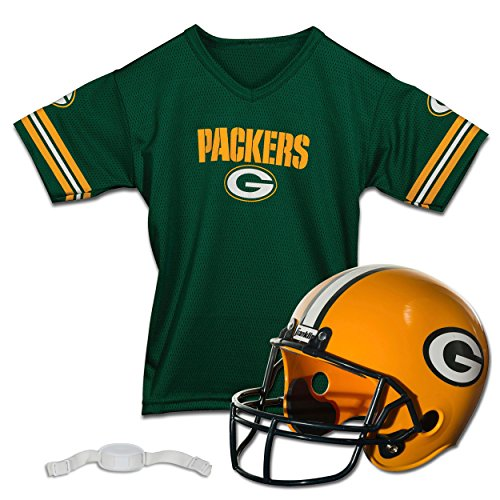 Franklin Sports NFL Green Bay Packers Replica Youth Helmet and Jersey Set -