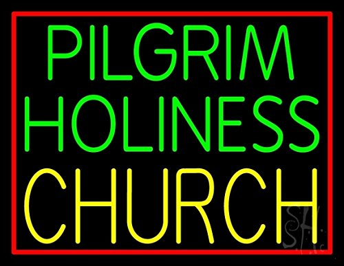 The Sign Store N105-10843-outdoor Green Pilgrim Holiness Yellow Church Outdoor Neon Sign44; 24 x 3.5 x 31 in.