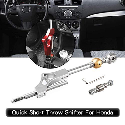 RYANSTAR Shifter Extender Adjustable Short Shifter for Honda Ciciv CRX Del Sol Acura Integra B or D Series Engine Silver