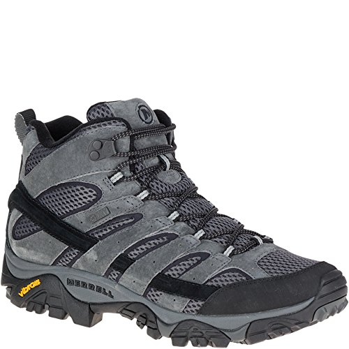 Athletic Suede Hiking Boots - Merrell Men's Moab 2 Mid Waterproof Hiking Boot, Granite, 7 M US