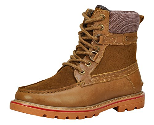 Serene Mens High Top Lace Up Buckle Ankle Boot(7.5 D(M)US, Tan)