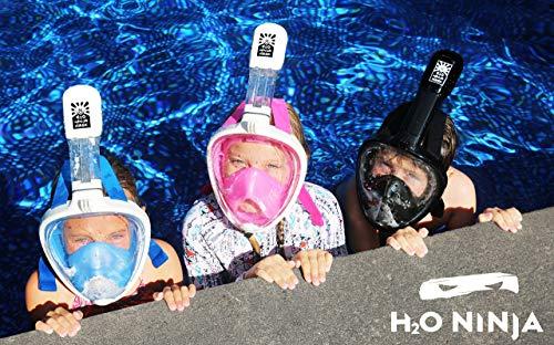 Ninja H2O máscara de Snorkel de Rostro Completo para niños ...