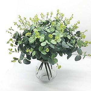Lopkey Plastic Artificial Eucalyptus Indoor Flower Outdoor Garden Decoration Wedding Flower Arrangement 78