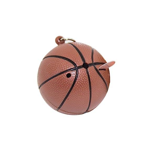 Amazon.com : Yamalans Creative Basketball Shape Keychain LED ...