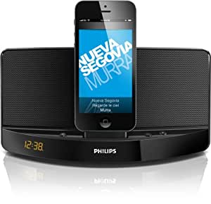 Philips AD305/37 Lightning Connector Compact Charging Speaker Dock for iPhone 5/iPod (Black)