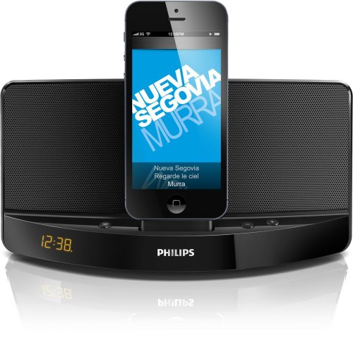 Cheap MP3 & MP4 Player Accessories Philips AD305/37 Lightning Connector Compact Charging Speaker Dock for iPhone 5/iPod (Black)