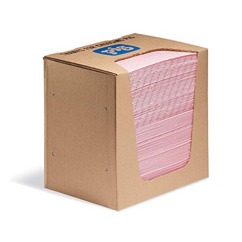 New Pig Hazmat Handy Pad in Dispenser Box, Absorbs Hazardous Materials, 12-Ounce Absorbency Per Pad, 13