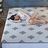 LJ&XJ Healthy Mattress Topper,Soft Comfortable Tatami Mattress Foldable Non-Slip Tatami mat,Anti dust mite-Grey Queen2