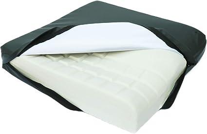 Cuscino in memory gel per alleviare la pressione sulla zona lombare il coccige e i dischi intervertebrali Salosan Visco