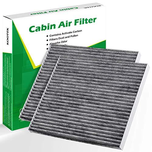Kootek 2 Pack Cabin Air Filter for CF11819 Hyundai Azera Santa Fe Sonata/ Chevrolet Captive Sport Equinox/ GMC Terrain/ KIA Cadenza Optima Sedona/ Saturn Vue with Activated Carbon (Air Filter Hyundai Sonata)