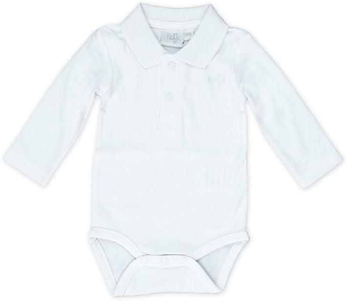 feetje – Body para bebé con cuello de Polo 502.057 Weiß 80 cm ...