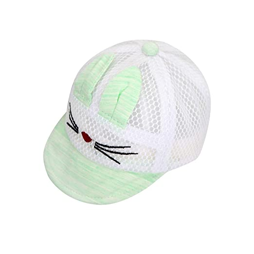 c46078b4 Image Unavailable. Image not available for. Color: IMLECK Baby Cute Cartoon Reversible  Baseball Cap Infant Sun Hat
