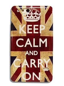 "Sony Xperia GO St27i ""Keep calm and Carry on"" England FLAG Retro Hardcover protector case Case Bumper 2056 von Ekna Blitzversand aus DE"