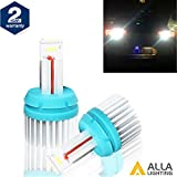 Alla Lighting 2400 Lumens CAN-BUS Error Free Super Bright 6000K White W16W 921 912 T15 LED Bulbs High Power CSP Chipset LEDs for Back Up Reverse Light Lamp Replacement(2 Years Warranty) …