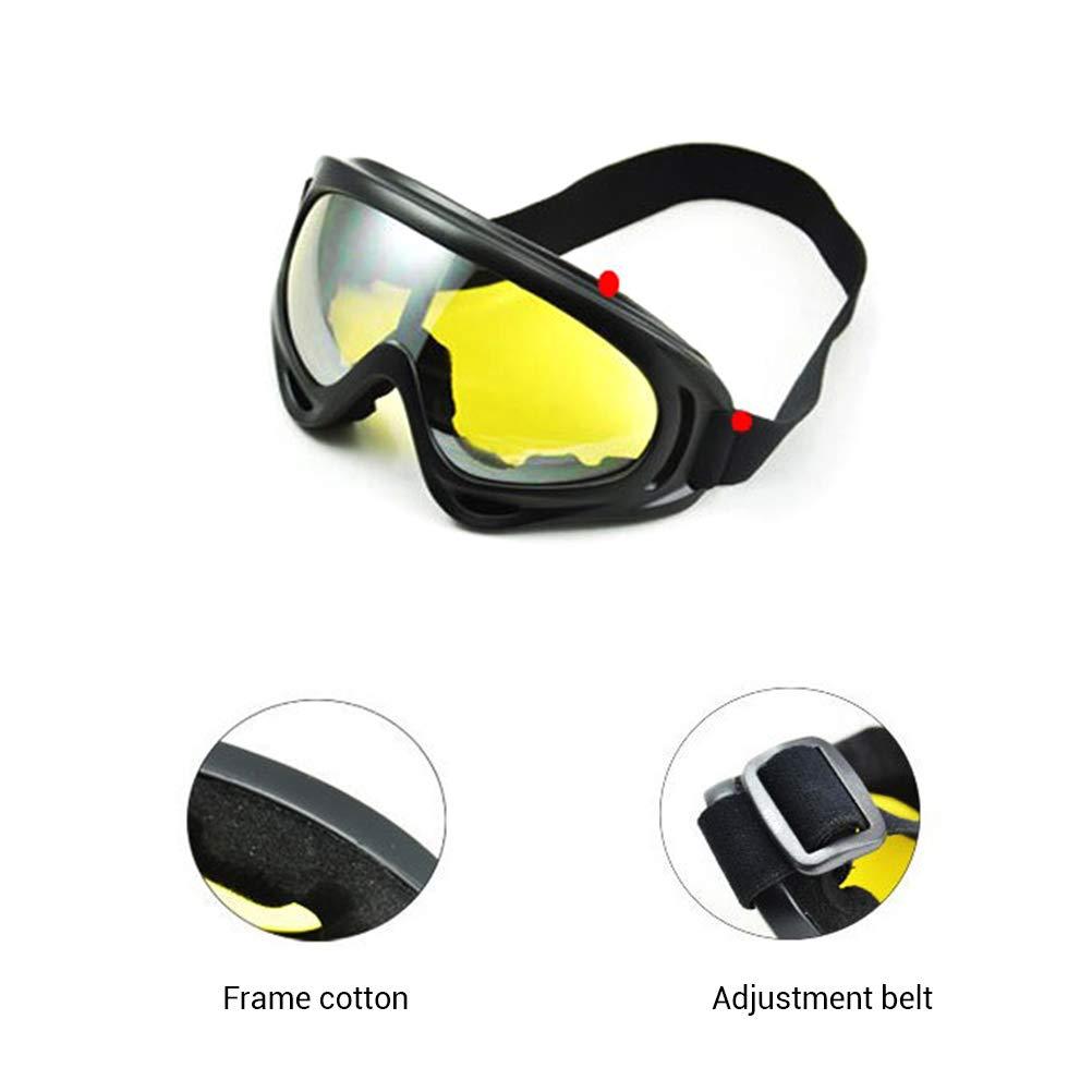 EisEyen Occhiali da Sci Safety Goggles Anti-Nebbia Anti-Vento UV per Uomini e Donne Sport Antipolvere Occhiali da Sole Bicicletta Moto