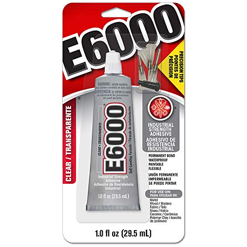 (E6000 231020 Adhesive with Precision Tips, 1.0 fl oz )