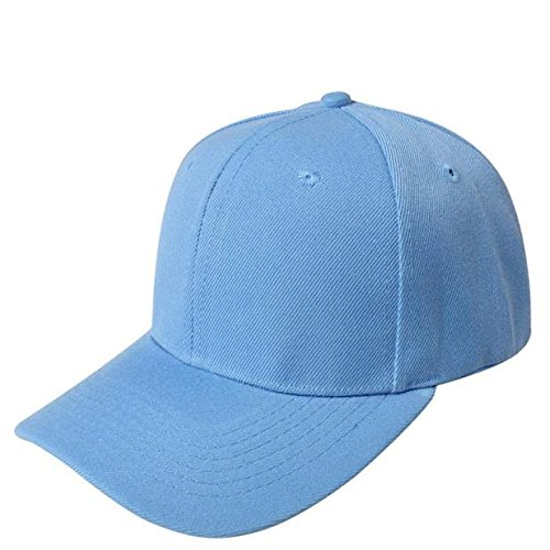 UOFOCO Baseball Cap Blank Hat Solid Color Adjustable Hat Sky Blue