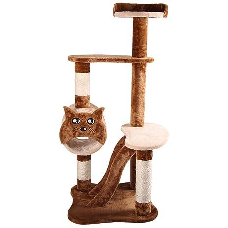 Mingc Gato árbol-sisal Cubierto rascador Pendiente, Centro de Actividad Muebles de Torre de