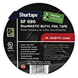 Shurtape Duct Tape - Butyl Foil ShurMASTIC Tape - UL181B-FX - 3 in. x 100 ft. (SF 686) #86-111163 (pack of 16 items)