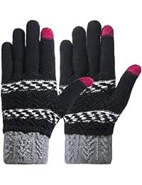 Women Winter Touch Screen Gloves Knit Texting Gloves Touchscreen Mittens