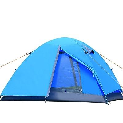 2 personnes Tente à double couche poids léger pôle de fibres de verre pour la randonnée de camping en plein air