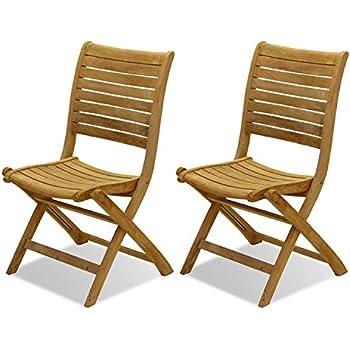 Amazonia Teak Dublin 2 Piece Teak Folding Chairs