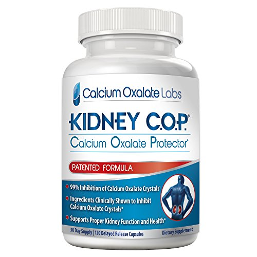 Kidney COP Calcium Oxalate Protector 120 Capsules, Patented Kidney Support for Calcium Oxalate Crystals, Helps Stops Recurrence of Stones, Stronger Than Chanca Piedra Stone Breaker Supplements ()