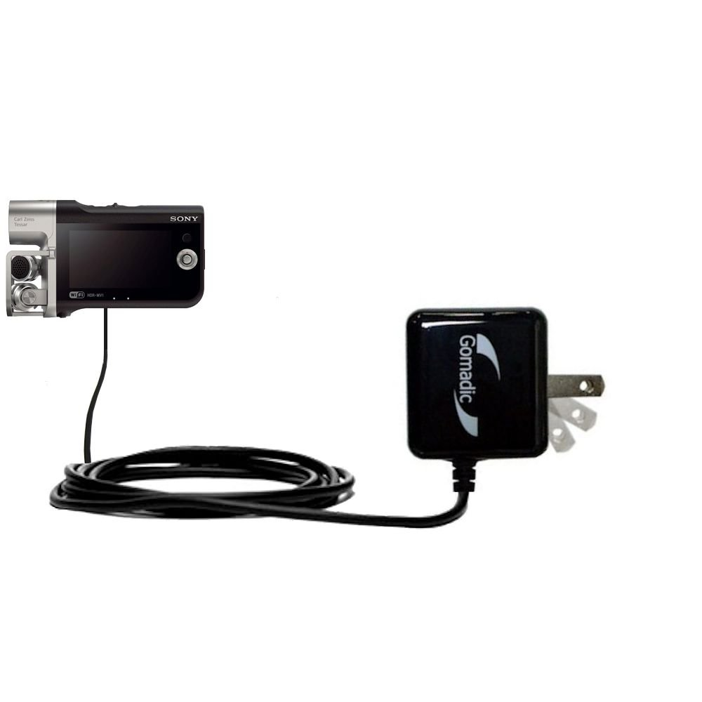 Intelligently designed with Gomadic TipExchange Gomadic High Output Home Wall AC Charger designed for the Sony HDR-MV1 with Power Sleep technology
