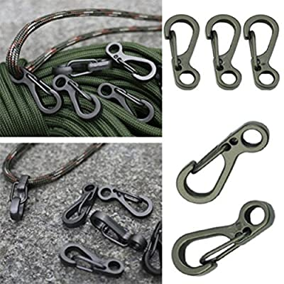 Yosoo 10PCS/LOT Mini Hanging Buckle Spring Backpack Clasps Climbing Carabiners Metal Hook EDC Keychain Camping Bottle Hooks Paracord Tactical Survival Gear