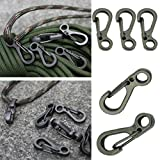 Yosoo 10PCS Aluminum Mini Carabiner Buckle Pack,Keychain Clip, Locking Spring Snap Hook Buckle for Hammocks, Camping, Hiking & Utility,Paracord Tactical Survival Gear