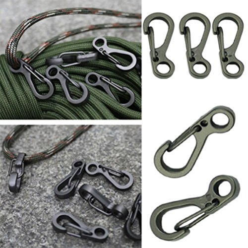 Yosoo-10PCSLOT-Mini-Hanging-Buckle-Spring-Backpack-Clasps-Climbing-Carabiners-Metal-Hook-EDC-Keychain-Camping-Bottle-Hooks-Paracord-Tactical-Survival-Gear