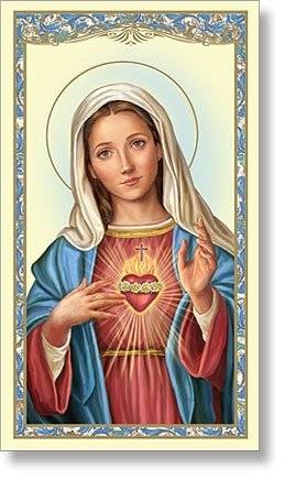 Immaculate Heart of Mary Holy Card (10 pack)