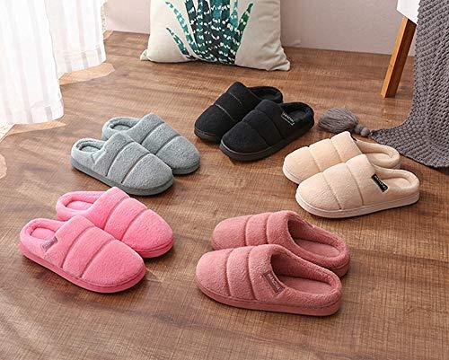 Mémoire Doublure Pantoufles Black 4 Hommes Balabala Chaussures Mousse En Femmes Laine Confort House peluche Indoor Mini q4zwEXZ