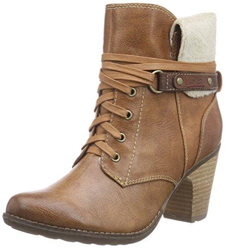 s.Oliver 26105 - botas de caño bajo de material sintético mujer marrón - marrón (muscat 311)