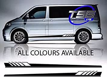 Aufkleber Für Vw Transporter Mit Grafikstreifen T4 T5