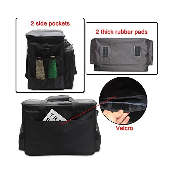 86915873bf4d Luxja Sewing Machine Carrying Bag, Tote Bag for Sewing Machine and Extra  Sewing Accessories, Black