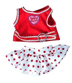 Teddy Mountain Love Rocks Top con Falda de Lunares Oso Outfit (8 ...