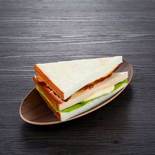 Pu material fake sandwich artificial sesame bread for Artificial bread decoration