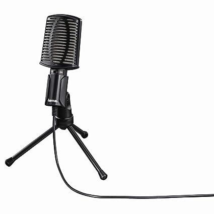 Hama Mic-USB Allround Alámbrico Negro - Micrófono (50-16000