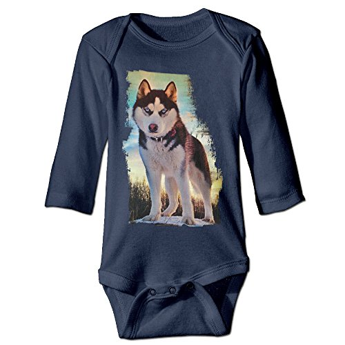 Unisex Baby Onesies Siberian Husky Nature Long Sleeve (Kennel Club Husky Siberian)