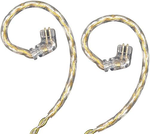 marr/ón Cable para auriculares KZ Yinyoo KZ ZS3 ZS5 ZS6 2 pines, 0,75 mm
