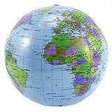 Inflatable World Globe Beach Ball Inflate Earth Map Teacher Aid Geography (5 pcs)