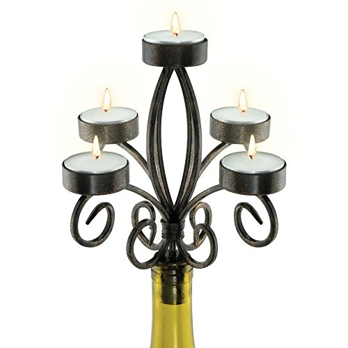 Epic Products Scroll Wine Bottle Candelabra, Multicolor