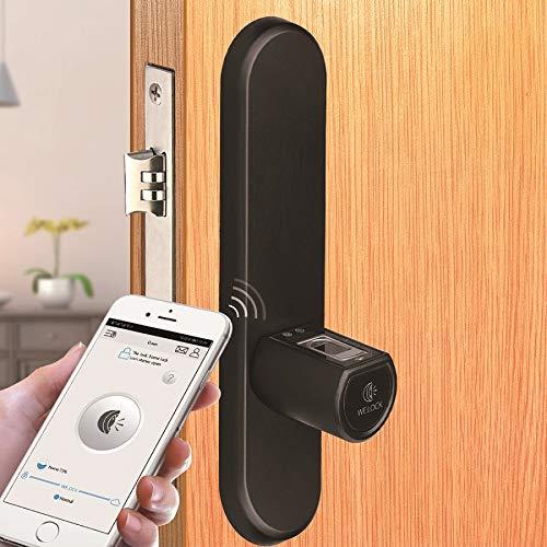 WE.LOCK Smart Lock mit biometrischer Fingerabdruck und Bluetooth App elektronisches t/ürschloss Fernbedienung in Keyless /…