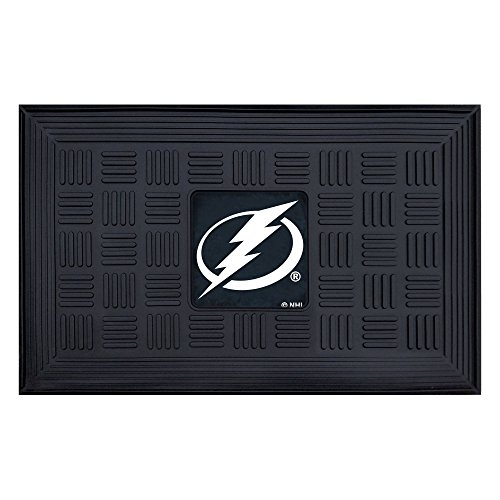 Fanmats 11483 NHL Tampa Bay Lightning Vinyl Medallion Door Mat